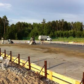 Строительство фундамента склада эелектротехнической продукции